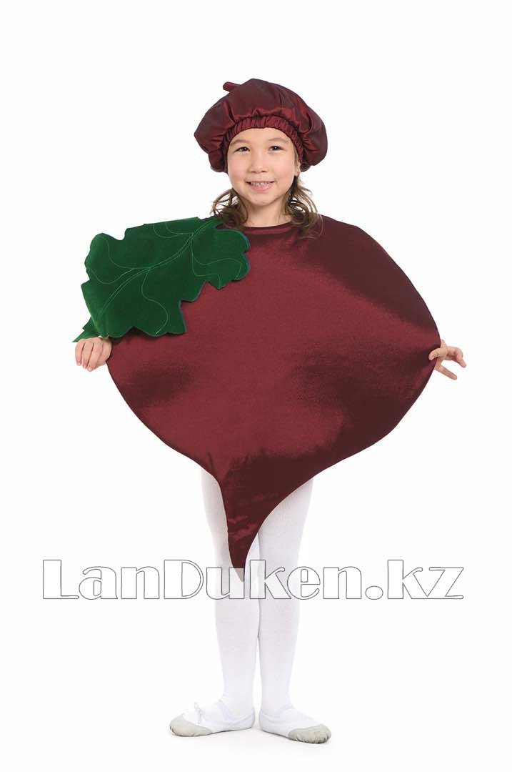 Карнавальный костюм детский овощи и фрукты 24-34 р (свекла) - фото 1