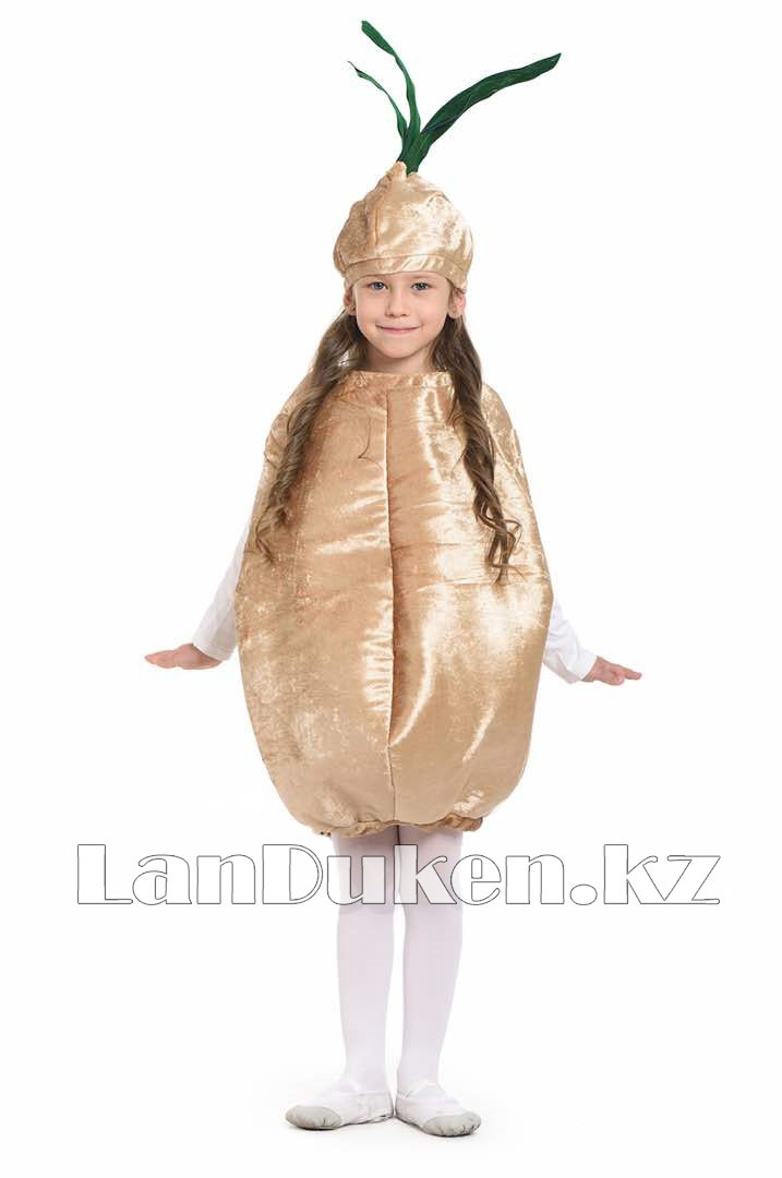 Карнавальный костюм детский овощи и фрукты 24-32р (лук) - фото 1