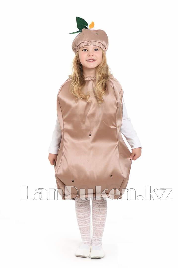 Карнавальный костюм детский овощи и фрукты 24-34р (картофель) - фото 1