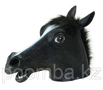 Маска лошадь черная