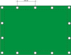 Защитный тент (полог) ПВХ с люверсами на заказ в алматы, фото 2