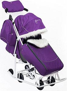 Мое детство Санки-коляска Мое детство Снеговик Фиолетовый