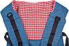 Чудо-Чадо Слинг-рюкзак Чудо-Чадо Бебимобиль Хип джинсовый с красным, фото 6
