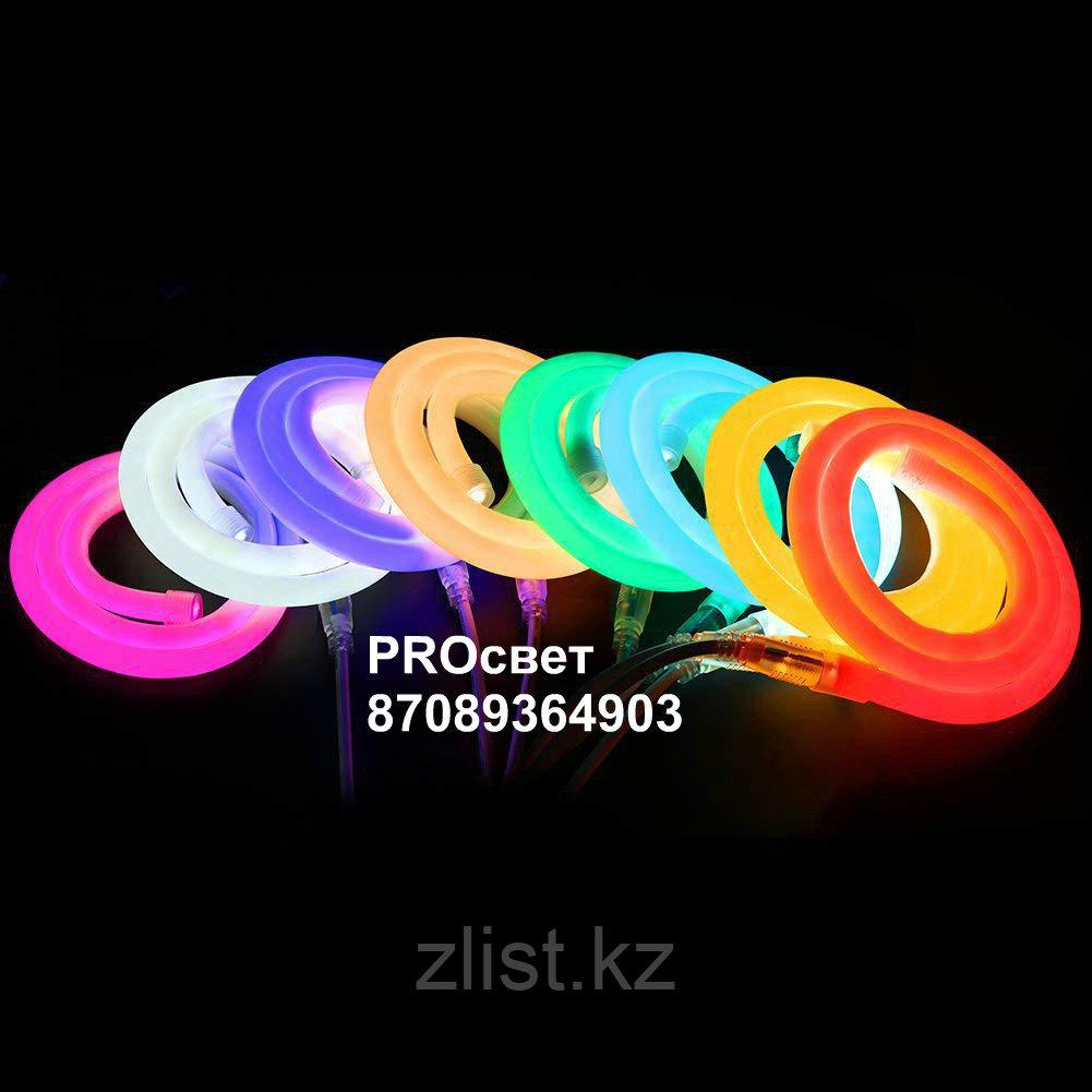 Cветодиодный неон круглый 220В 2835(120LED/м) IP67 гибкий неон. холодный неон