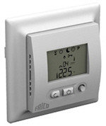 Recessed electronic thermostats