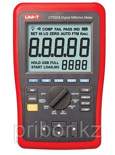 Микроомметр постоянного тока цифровой UT620A. Прибор внесён в реестр СИ РК.