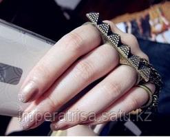 """Тройное кольцо на пальцы """"Пирамида"""""""
