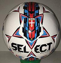 Футбольный мяч Select Futzal Super кожаный (размер 4) сшитый, фото 3