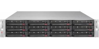 "Платформа Supermicro 2U SSG-6028R-E1CR12T, Два процессора E5-2600v3/v4, DDR4, 12x3.5"" SAS/SATA HDD"