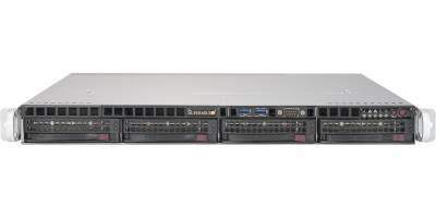 Сервер Supermicro SuperServer 5019S-MR, 1 процессор Intel Quad-Core E3-1220v5 3GHz, 8GB DDR4