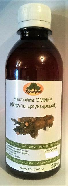 Омик (ферула джунгарская), настойка, 250 мл (суставы, грыжи, параличи)