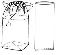 Мягкий контейнер 90х90х145, верхняя сборка с термостойким вкладышем, 2 стропы