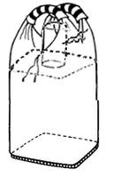 Мягкий контейнер 75х75х140, загрузочный клапан, 2 стропы