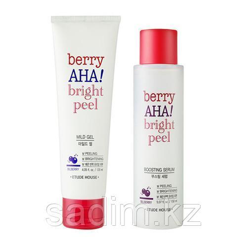 Etude House Berry AHA Bright Peel Mild Gel - Пилинг-гель для сияния кожи