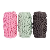 Шнур для вязания полиэфирный 3мм, 50м/100гр, набор 3шт (Комплект 8)