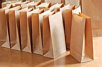 Бумажный ЭКО-пакет подарочный из крафта, фото 1