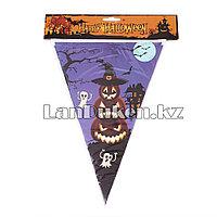 Флажки для Хэллоуина (Happy Halloween) Тыква фиолетовый