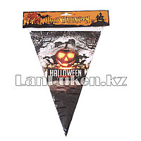 Флажки для Хэллоуина (Happy Halloween) Тыква серый