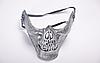 Карнавальная маска Череп, серебро