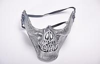 Карнавальная маска Череп, серебро, фото 1