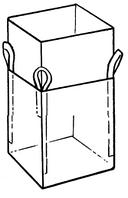 Мягкий контейнер 80х80х60 без вкладыша ( мешок ), 4 стропы