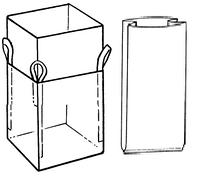 Мягкий контейнер 85х85х150 c вкладышем ( мешок ), 4 стропы