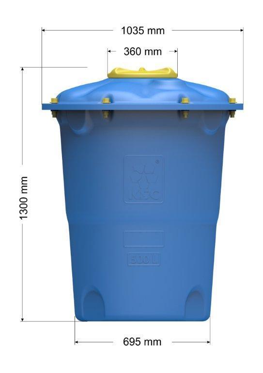 Емкость цилиндрическая вертикальная Лепесток 500 л
