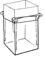 Мягкий контейнер 90х90х65 без вкладыша ( мешок ), 4 стропы