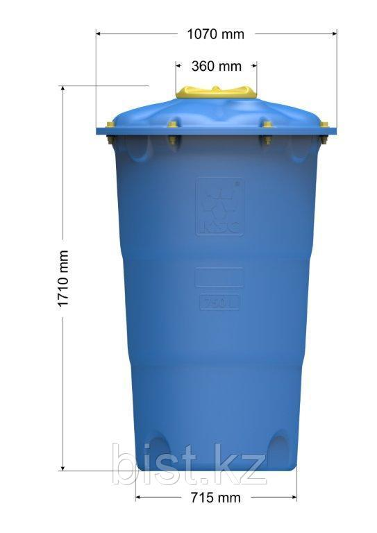 Емкость цилиндрическая вертикальная Лепесток 750 л