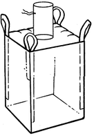 Мягкий контейнер 90х90х150 без вкладыша ( мешок ), 4 стропы