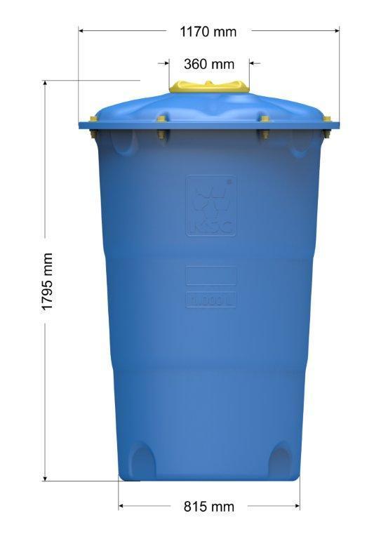 Емкость цилиндрическая вертикальная Лепесток 1000 л