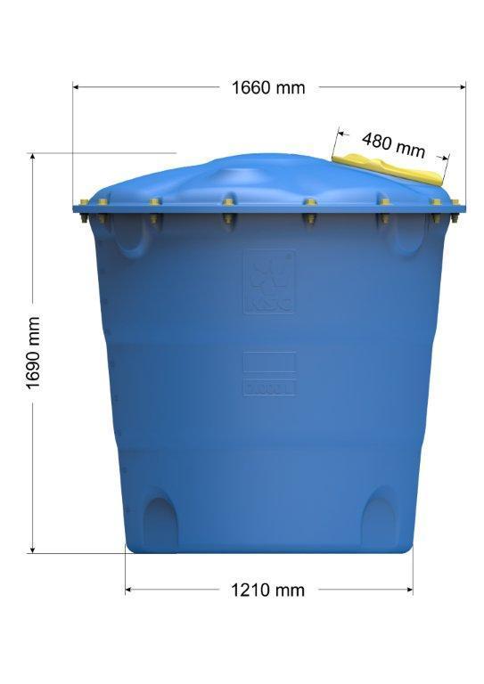 Емкость цилиндрическая вертикальная Лепесток 2000 л узкая