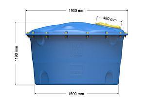 Емкость цилиндрическая вертикальная Лепесток 2000 л широкая