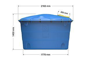 Емкость цилиндрическая вертикальная Лепесток 3000 л