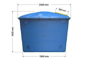Емкость цилиндрическая вертикальная Лепесток 5000 л