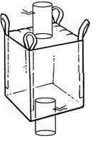 Мягкий контейнер 110х110х110 без вкладыша ( мешок ), 4 стропы