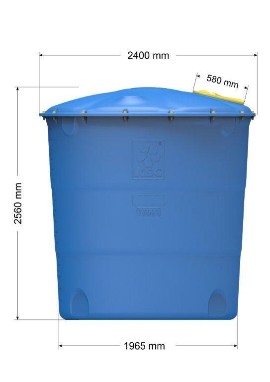 Емкость цилиндрическая вертикальная Лепесток 7500 л
