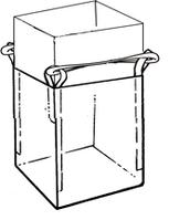 Мягкий контейнер 75х75х110 без вкладыша ( мешок ), 4 стропы