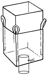 Мягкий контейнер 90х90х130 без вкладыша, 4 стропы