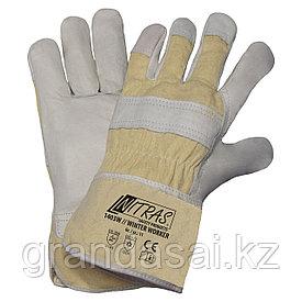Кожа комбинированные утепленные перчатки NITRAS WINTER WORKER