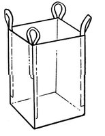 Мягкий контейнер 95х95х130 без вкладыша ( мешок ), 4 стропы