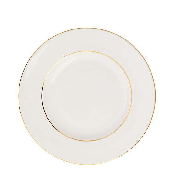 Десертная тарелка Золотой кантик. Императорский фарфоровый завод