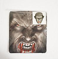 Маска-чулок для Хэллоуина вампир с кровью на зубах 05