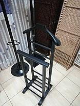 Напольная вешалка для одежды двойная (ВН-002 орех), фото 3