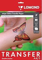 Бумага для временных татуировок А4 струйн.печать (L2010450) 5 листов Lomond (в кор.26 пачек)