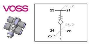 Многопозиционный клапан VOSS0233264200 Польша