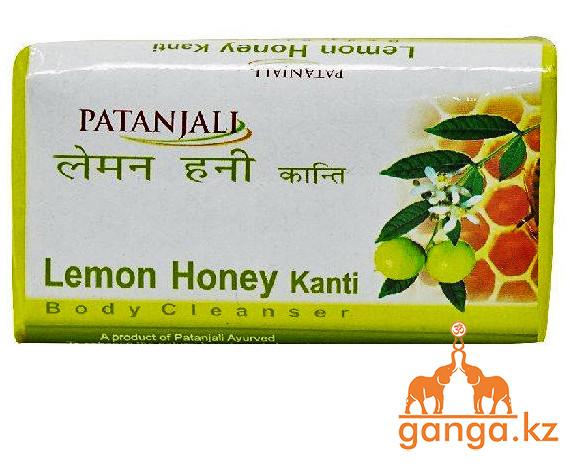 Мыло с Лимоном и Медом (Lemon Honey Kanti Soap PATANJALI), 75 гр.