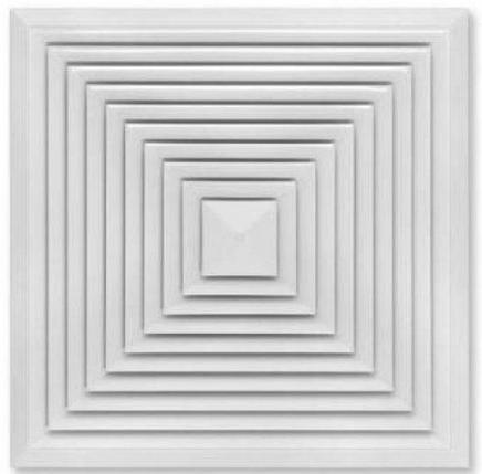 Решетка приточно-вытяжная 160*160 с фланцем 100мм белая. Серия ВФ, фото 2