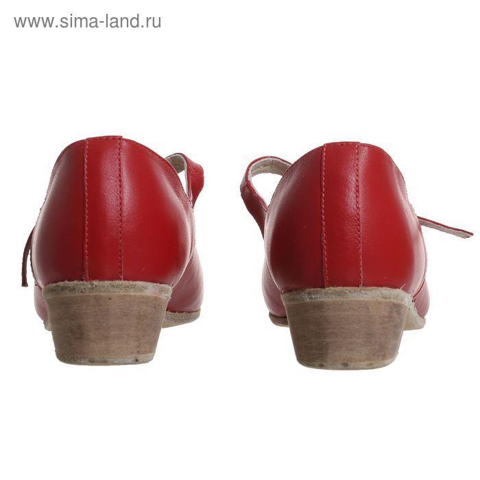 Туфли народные женские, длина по стельке 23,5 см, цвет красный - фото 4