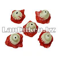 Кровавые глазные яблоки в сетке украшение на Хэллоуин (Halloween) 5 шт